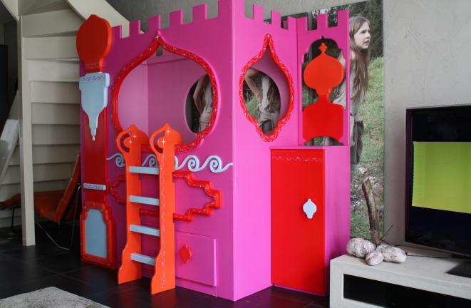 Pin meisjes slaapkamer bed met ombouw kast bureau stoel on pinterest - Deco meisjes slaapkamer ...