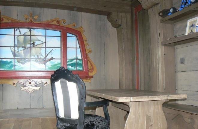 Allround deco themakamers piratenschip kamer for Deco kamer